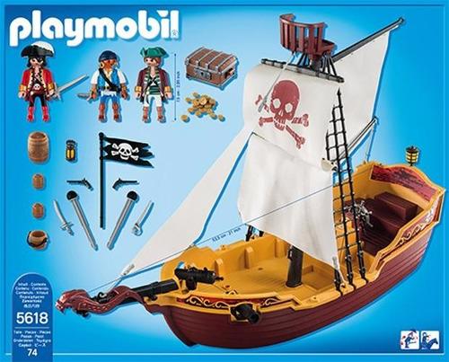 Playmobil barco pirata c digo 5618 r 329 99 no mercadolivre for Barco pirata playmobil