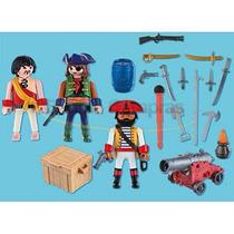 Kit Bonecos Playmobil Tripulação Pirata C/ 20 Itens Original