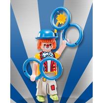 Playmobil Figures 7 Circo = Palhaço Com Argolas