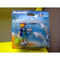 Playmobil - 5876/5883 - Tratadora C/ Golfinhos / Sereia