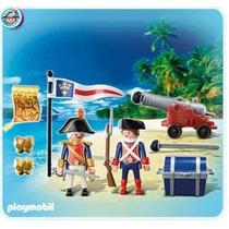 Playmobil Medieval Piratas 5946 Soldados Franceses Canhão