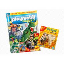Playmobil Revista Alemã Dinossauro Rex Com Figura