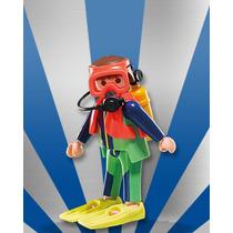 Playmobil Da Série 7 Mergulhador Profissional