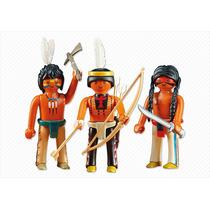 Playmobil Western 6272 Trio De Índios Guerreiros
