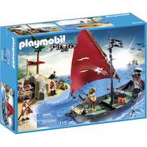 Playmobil Barco Código 5646 Navio Pirata Com Soldados