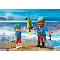 Playmobil Piratas Blister 5164 Pirata Pai & Filho & Arara
