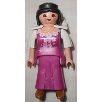 Playmobil Lote C/3 Bonecos Geobra - Rainha Cavaleiro Medieva
