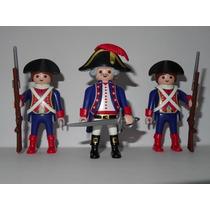 Playmobil Medieval Piratas Trio General 2 Soldados Franceses