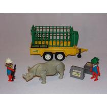 Playmobil Zoo Safari - Transporte De Rinoceronte - Ref. 3529