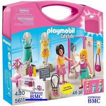 Maleta Shopping Center Playmobil 5611 Original Com 46 Peças