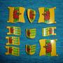 Playmobil-184 - 7 Bandeiras 3 Escudos Medievais Águia Língua