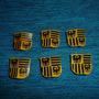 Playmobil-056 - 6 Escudos Medievais Águia Amarelos E Pretos
