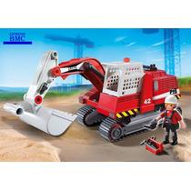 Escavadeira City Action Playmobil 5282 Original Com 17 Peças