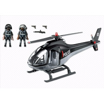 Playmobil Helicóptero De Polícia City Action Código 5975