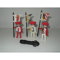 Playmobil Trol Medieval - Lanceiros Do Rei E Canhão
