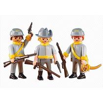 6276 Playmobil Velho Oeste 3x Soldados Confederados Add-o...