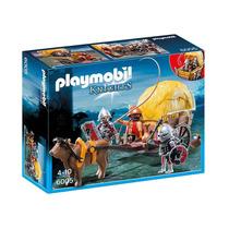 6005 Playmobil Cavaleiros Carroça Camuflada Com Soldados
