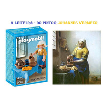 Playmobil Tema Museu - A Leiteira Do Pintor Johannes Vermeer
