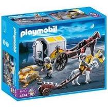 4874 Playmobil Cavaleiros Carroça Com Tesouro Dos Cavalei...