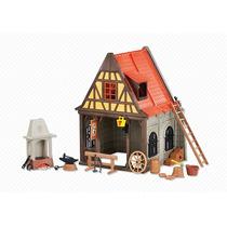 6329 Playmobil Cavaleiros Loja De Ferreiro Medieval Add-o...