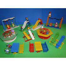 Novo Parque Infantil Miniatura Parquinho Completo 12 Bonecos