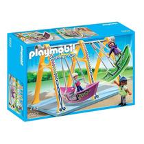 5553 Playmobil Parque De Diversões / Circo Balanços De Ba...