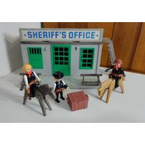 Playmobil Sheriff Office Trol Antigo Faroeste - Veja Fotos
