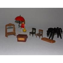 Playmobil Trol - Velho Oeste - Lote De Acessórios E Dama!