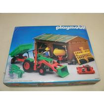 = Playmobil = Fazenda Celeiro Com Trator 3554 Antex Sitio