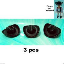 Playmobil-068 - 3 Chapéus De Cowboy Cor: Preta