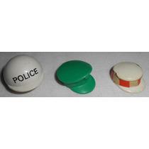 Playmobil Acessórios Lote 3 Chapéus Capacete Police Gari
