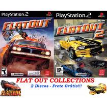 Flatout 1 E 2 Para Playstation 2 (2 Jogos Ps2 Corrida