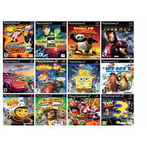 Carros Disney+ Crash+ Bob Esponja+ A Era Do Gelo 3 Jogos Ps2