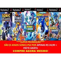 Sonic Riders Zero Gravity Ps2 (kit 5 Jogos Play Station 2