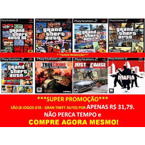 Gta Grand Theft Auto Play Station 2 (kit 8 Jogos Ps2)
