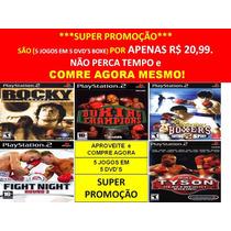 Rocky, Mike Tyson Para Playstation 2 (kit 5 Jogos Ps2 Boxe