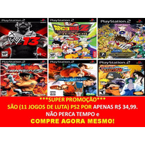 Dragon Ball Z Budokai Tenkaichi 3 + (kit 11 Jogos Ps2 Luta