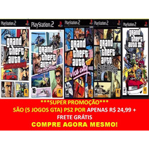 Gta San Andreas Play Station 2 (kit 5 Jogos Ps2)