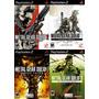 Metal Gear Solid 2, 3 Ps2 (kit 4 Jogos Play Station 2 Guerra