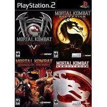 Mortal Kombat Shaolin Monks Play Station 2 (kit 4 Jogos Ps2)
