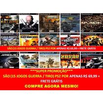 Pack Jogos De Guerra Playstation 2 (kit 15 Jogos Ps2 Tiro