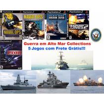 Navio De Guerra Ps2 (kit 5 Jogos Play Station 2 Naval