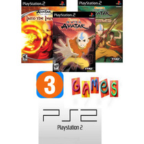 Avatar The Last Airbender - Patch Com 3 Games - Play2/ps2