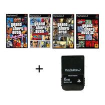 Gta Combo + Memory Card 16mb Psii