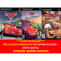 Cars Disney Carros Playstation 2 (kit 3 Jogos Ps2 Mcqueen