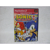 Capa & Manual Do Jogo Sonic Mega Collection Plus- Sem O Jogo
