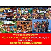 The Sims 5 Jogos Ps2 ( Frete Grátis ) Play Station 2