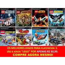 Jogos Lego Drome Racers Ps2 (kit 8 Jogos Playstation 2)