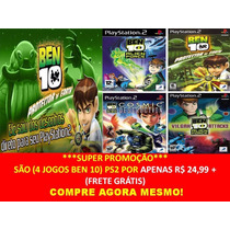 Ben 10 Protector Of Earth Play 2 (kit 4 Jogos Ps2