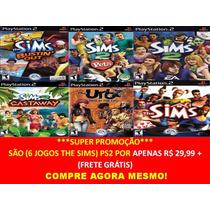 The Sims 6 Jogos Ps2 ( Frete Grátis )